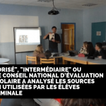 CNESCO a analysé les sources d'information utilisées par les élèves
